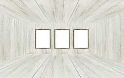 Empty room with picture frames. Stock Images