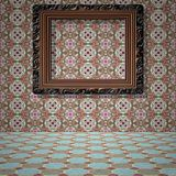 Empty room with picture generated texture Royalty Free Stock Image