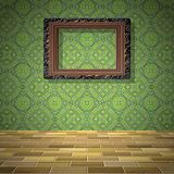 Empty room with picture generated texture Royalty Free Stock Images