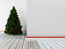 Empty room with the pine Stock Photography