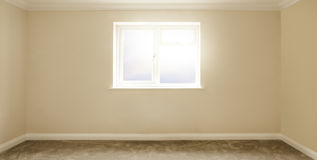 Empty Plain Painted Room In A House With No Furniture Stock Photos