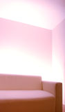 Empty room with plain sofa stock photos