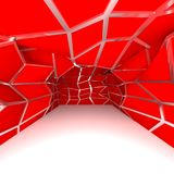 Empty room red diagonal wall Royalty Free Stock Image