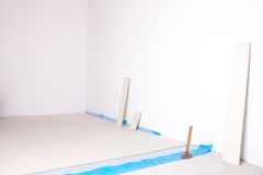 Empty room during renovation Stock Image