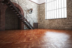 Empty room with rustic finishes Royalty Free Stock Image