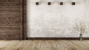 Empty room in rustic style Stock Photos
