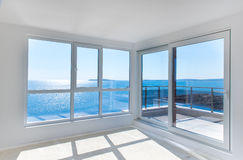 Empty room with sea view Royalty Free Stock Photos