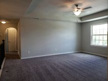 Empty room of second floor in a new house TX Stock Photos