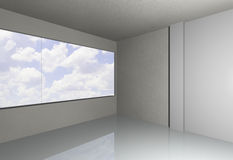 Empty room with sky Stock Photo