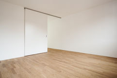 Empty room with sliding door Royalty Free Stock Photography