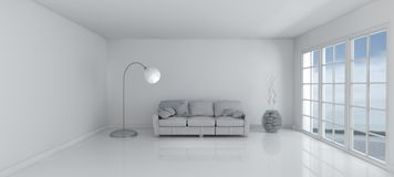 Empty Room and sofa Stock Photo