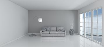 Empty Room and sofa Royalty Free Stock Photo