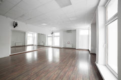 Empty room in the sport club. Fitness room in the luxury sport club Royalty Free Stock Photos