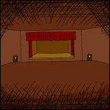 Empty Room with Stage Royalty Free Stock Image