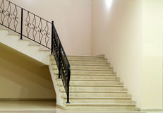 Empty room with stairs Stock Images