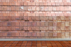 Empty room - Stone wall and ground floor background texture with Stock Image