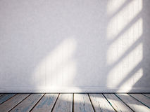 Empty room with the sunlight on the wall, 3d. Rendering Stock Image