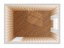 Empty room - top view Royalty Free Stock Image