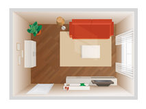 Empty room - top view Stock Photography