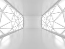 Empty Room With Two Big Futuristic Windows Royalty Free Stock Images