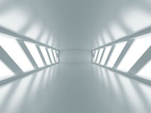 Empty Room With Two Big Futuristic Windows Royalty Free Stock Photos