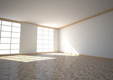 Empty Room Two Windows Royalty Free Stock Image