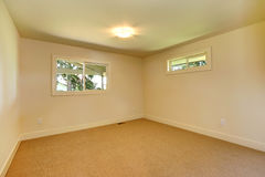 Empty room with two windows Royalty Free Stock Image