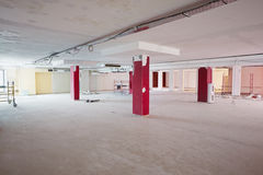 Empty room under repair works Stock Photo