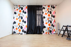 Empty room unfurnished with curtains on window Royalty Free Stock Images