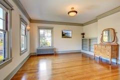 Empty room with vanity cabinet Stock Image