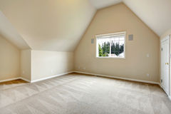 Empty room with vaulted ceiling Royalty Free Stock Images