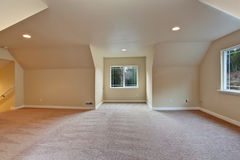 Empty room with vaulted ceiling Stock Photos
