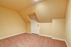 Empty room with vaulted ceiling Stock Photography