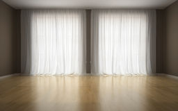 Empty room in waiting for tenants Royalty Free Stock Images