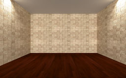 Empty room wall tile Stock Images