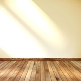 Empty room with wall and wooden floor. EPS 10. This is editable vector illustration Royalty Free Stock Images