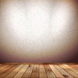 Empty room with wall and wooden floor. EPS 10 Royalty Free Stock Image