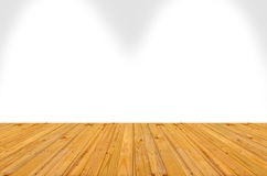 Empty room with wall and wooden floor,An image of a nice wooden Stock Photo