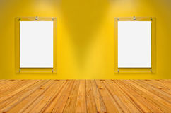 Empty room with wall and wooden floor,An image of a nice wooden Royalty Free Stock Photo