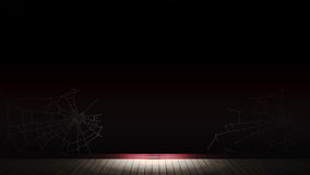 Empty room with wallpaper with cobwebs. 3d illustrations Royalty Free Stock Image