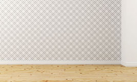 Empty room with wallpaper Royalty Free Stock Photos