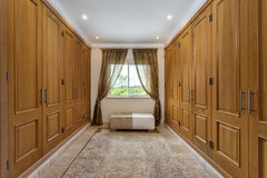 Empty room wardrobe for clothes, Royalty Free Stock Images