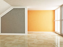 Empty room in warm colors Stock Photo