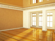Empty room in warm colors Royalty Free Stock Photos