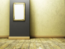 Empty room in the warm colors with the picture Stock Images