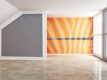 Empty room in warm colors Royalty Free Stock Photography