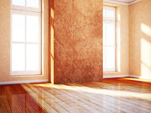 Empty room in warm colors Stock Photography