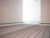 Empty room in white colors,l. 3d. Rendering Royalty Free Stock Photo