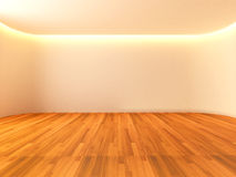 Empty room white curve wall Stock Image