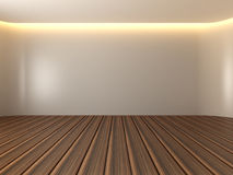 Empty room white curve wall Stock Photo
